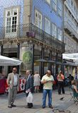 Uliczny życie w Portugalia fotografia stock