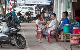 Uliczny życie w Saigon, Wietnam (Ho Chi Minh) Zdjęcie Stock