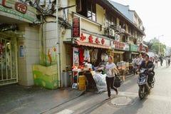 Uliczny życie w Szanghaj, Chiny Fotografia Royalty Free