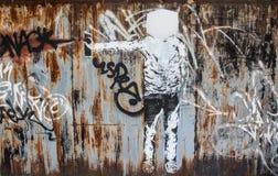 ulicznych sztuka graffiti abstrakcjonistyczni kreatywnie rysunkowi kolory na ścianie Obraz Royalty Free