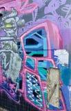 Ulicznych sztuka graffiti młodości umiejętności abstrakcjonistyczna miastowa kultura Hobart Tasmania zdjęcie stock