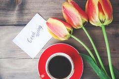 Ulips, café et massage Photographie stock