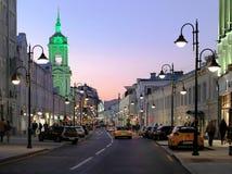 Ulitsa Pyatnitskaya, Russland, Moskau lizenzfreies stockbild
