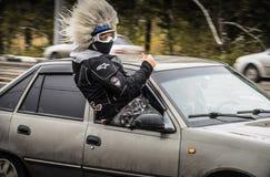 ULIYANOVSK, RUSSLAND 10 10 2015 Schließen des season-2015, Ulyanovsk, im Quadrat vor Akvamoll Zasviyazhie Stockfotografie