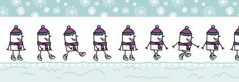 ull för hattmanscarf vektor illustrationer
