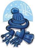 ull för scarf för hatträt maskamittens royaltyfri illustrationer