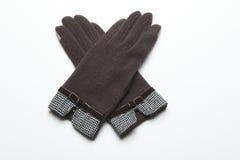 Ull stack handskar på vit bakgrund Royaltyfri Fotografi