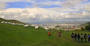 Ullaanbaator in Mongolei und in den jurts Lizenzfreie Stockbilder