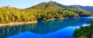 Ulldecona reservoir dam in Castellon Spain Stock Images