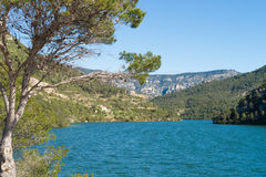 Ulldecona reservoir Royalty Free Stock Images