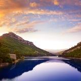 Ulldecona reservoirdam in Castellon Spanje Royalty-vrije Stock Afbeeldingen