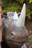 Ullig noshörning - Coelodonta antiquitatis Arkivbilder