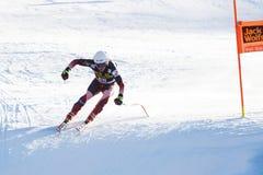 ULLRICH最大在奥迪FIS高山滑雪世界杯-人的下坡镭 图库摄影