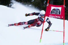 ULLRICH Max in Audi Fis Alpine Skiing World-Kop Stock Afbeelding