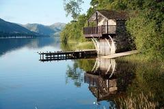 ullswater дома шлюпки Стоковое Изображение