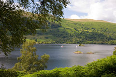 Ullswater. Ullsawater in Cumbria in the English Lake District royalty free stock image