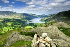 Ullswater. From the Arnison Crags Royalty Free Stock Photo