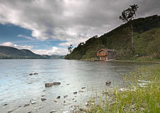 Ullswater boathouse Royalty Free Stock Images