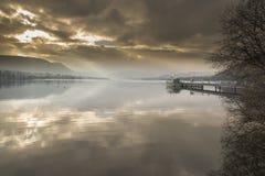 Ullswater dal ponte di Pooley Fotografia Stock