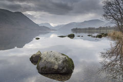 Ullswater English Lake District Cumbria. Looking towards Glenridding at the southwest end of the lake Stock Image