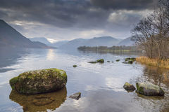 Ullswater English Lake District Cumbria. Looking towards Glenridding at the southwest end of the lake Stock Photos