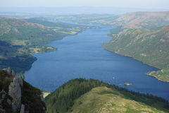 Ullswater from Heron Pike Royalty Free Stock Photos
