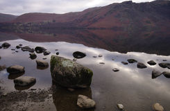 Ullswater lake - big stones Stock Photography