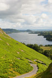 Ullswater Lake District Cumbria England UK from Hallin Fell Royalty Free Stock Photos