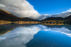 Ullswater, lake district, Cumbria, North of England. Ullswater lake in lake district with reflection of the sky Royalty Free Stock Image