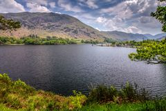 Ullswater, The Lake District, Cumbria. Ullswater is the second largest lake in the English Lake District, being approximately nine miles 14.5 kilometres long and royalty free stock photography