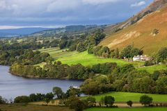 Ullswater in Lake District England Royalty Free Stock Photography