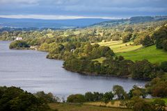 Ullswater in Lake District England Royalty Free Stock Images