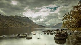 Ullswater Lake District. Landscape scene at Ullswater Cumbria stock image