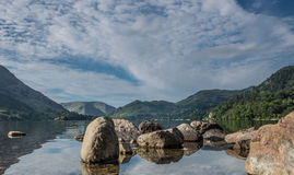 Ullswater. Looking down towards Glenridding royalty free stock images