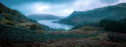 Ullswater no distrito inglês do lago fotografia de stock royalty free