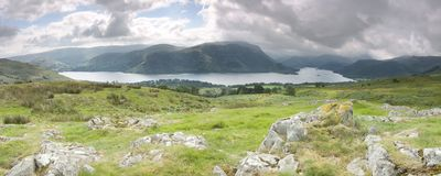 Ullswater panorama Stock Photography