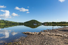 Ullswater by Pooley Bridge Lake District Cumbria boats blue sky and sunshine Stock Image