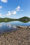 Ullswater by Pooley Bridge Lake District Cumbria UK sunshine blue sky Stock Photo
