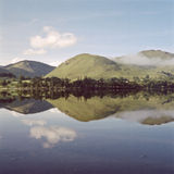 Ullswater Reflection. Lake Ullswater reflection, Lake District, UK Stock Photo