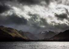 Ullswater storm Royalty Free Stock Photo