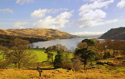 Ullswater view, Cumbria. Looking north over Ullswater in early spring, from the Glencoyne area, in the Lake District National Park in Cumbria Royalty Free Stock Images