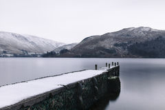 Ullswater Winter Scene. Royalty Free Stock Photo