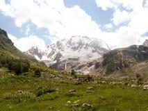 Ullu Tau, North Caucasus. Walk to the mountain Ullu Tau in the summer Stock Photography
