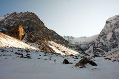 Ulluauz. Mountain near the main Caucasian ridge stock photo