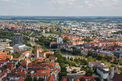 Ulm as seen from the tower Stock Photo