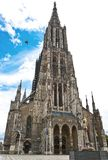 Ulm Cathedral. Ulm Minster (German: Ulmer Munster) is a Lutheran church located in Ulm, Germany.  It is the tallest church in the world Stock Photo