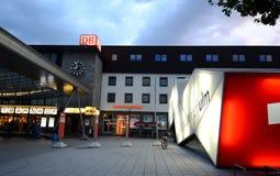 Ulm - ferrocarril central Fotografía de archivo libre de regalías