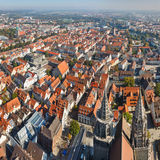 Ulm, Germany. View from the top of Ulm Minster, the world's tallest church stock image