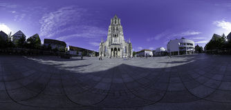Ulm Münsterplatz - 360° Panorama Royalty Free Stock Photo