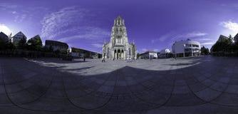 Ulm Münsterplatz - 360°全景 免版税库存照片